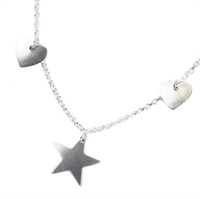 Picture of Two Hearts and a Star Necklace