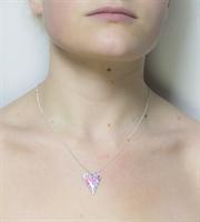 Picture of Pretty Floral Slim Heart Pendant